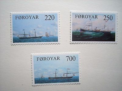 Faroe Is 1983 Old Cargo Liners Set Mnh Sg78/80