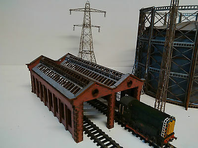 Modelux N Gauge Double Road Engine Shed