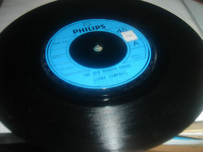 """Ethna Campbell - The Old Rugged Cross - 1971 Philips Label 7"""" Single Nr Mint."""