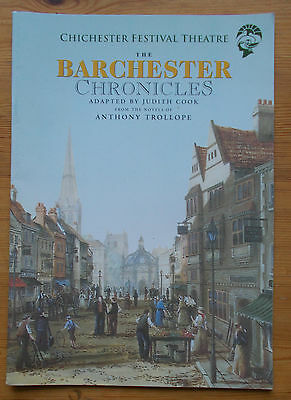 The Barchester Chronicles programme Chichester Festival Theatre Society 2000
