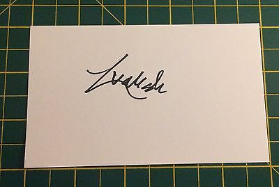 Hand Signed 2016/17 Liam Walsh Everton Index Card & COA