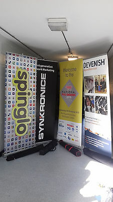 4 x 800x2000mm Roller Banner Pull/Roll/Pop-up Exhibition/Display Stand