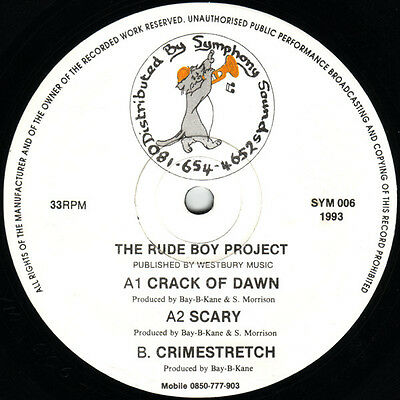 The Rude Boy Project – Crack Of Dawn ** Oldskool - Vinyl - Hardcore - Jungle  **