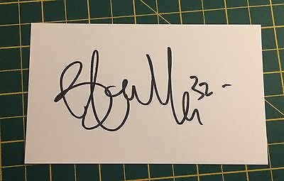 Hand Signed 2016/17 Brendan Galloway Everton Index Card & COA