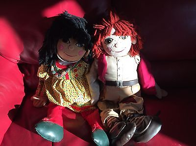 Large Vintage Rosie And Jim Dolls Rare Collectibles
