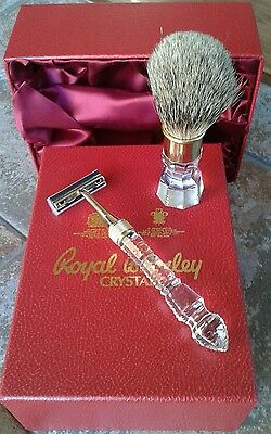 Royal Brierley by Appointment Crystal Shaving Set Boxed NEW