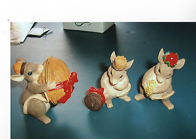 Charming Tails Christmas- The 3 Wise Men figures in the box. Set of 3