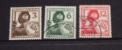 Germany 1937 Air Defence League  Issues In Set Of 3 Fine Used