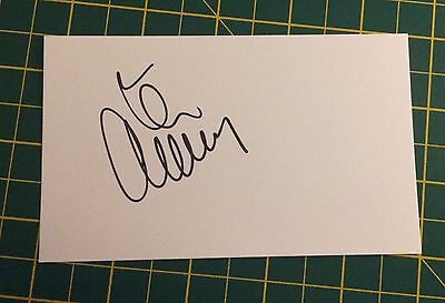 Hand Signed 2016/17 Tom Cleverley Everton Index Card & COA
