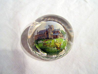An Antique Glass Paperweight Of Carlisle Cathedral