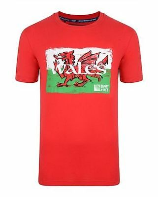 Wales Rugby T Shirt  Welsh Dragon Flag  Rugby World Cup 2015 Size M   Bnwt