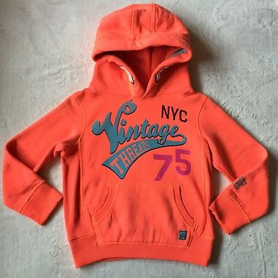 Next Girls Orange Hoody/Jumper. Size 7 Years . Used
