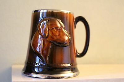 Large Brown Sylvac Tankard Mug Hunt/ Hound Design