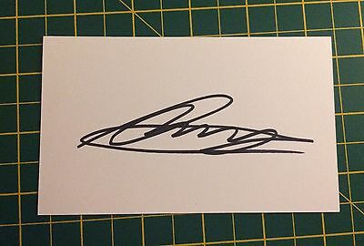 Hand Signed 2016/17 Ross Barkley Everton Index Card & COA