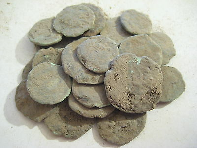 39. Nice lot 25 Roman uncleaned coins