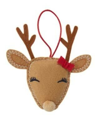 Gymboree Holiday Shop Reindeer Christmas Tree Ornament 1-Size Nwt