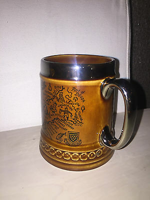 Rare Vintage  - Lord Nelson Pottery Collectable Mug  - Cornwall Map and Crest