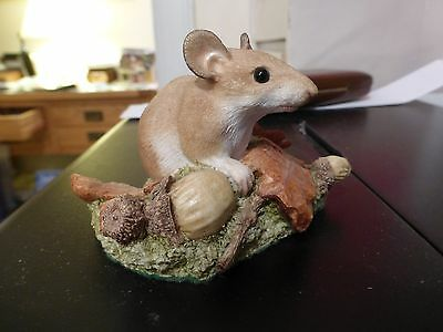Wildtrack Sculptures from Scotland; Woodmouse & Acorns