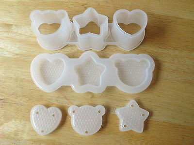 Sushi Mold Rice Maker Cutter Bear Star Heart Mould Tool Kitchen Made in Japan