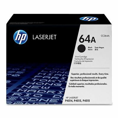 New Genuine OPEN BOX SEALED BAG HP 64A Laser Cartridge CC364A Black Packaging