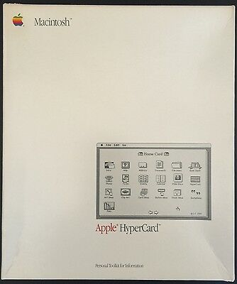APPLE MACintosh HyperCard 1.1 M0556/A - COMPLETE + Factory Sealed Manual !