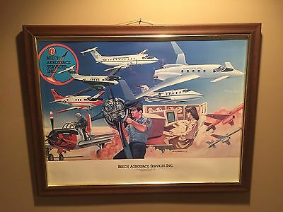 Beech Aerospace Services Inc. Poster Print Vintage US Military