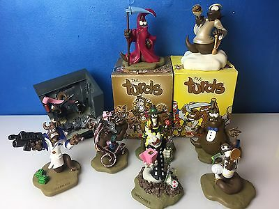 The Turds, Figurines, Log Books, Boxed, Job Lot, Collectables