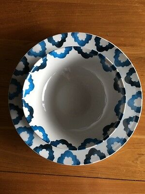 Blue And White Moroccan Themed Dinner Set For 8