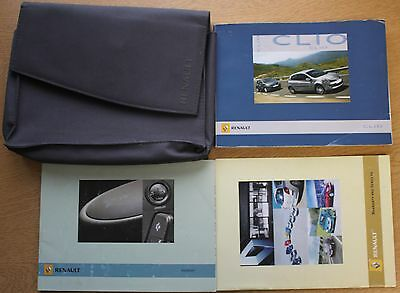Renault Clio Iii 2005-2009 Owners Manual Handbook Wallet Pack 10773
