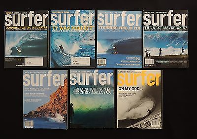 Surfer Magazine 2005 Used Lot Of 7 Issues Vol.46  Surf Surfing Hawaii