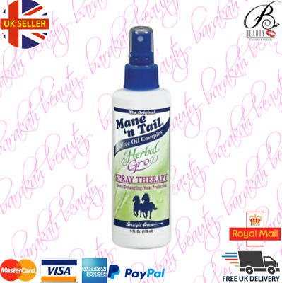Mane 'n Tail Herbal-Gro Spray Theray 6oz Shine/Detangling/Heat Protection