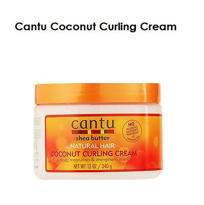 Cantu Shea Butter Coconut Curling Cream For Natural Hair 12oz