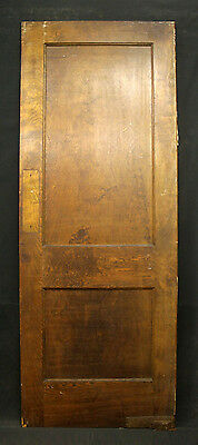 "30""x80"" Antique Birch Wood Wooden Swinging Kitchen Interior Door Recessed Panel"