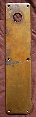 "3.5""x15"" Distressed Antique Solid Cast Bronze Swinging Pivot Door Push Plate"