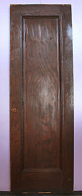 "27.5""x83.5""x1.75"" Antique Interior Arts Crafts Oak Wood Wooden Door Single Panel"