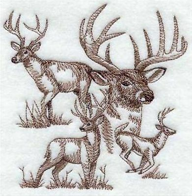 Deer Sketch Embroidery Patch Large Size