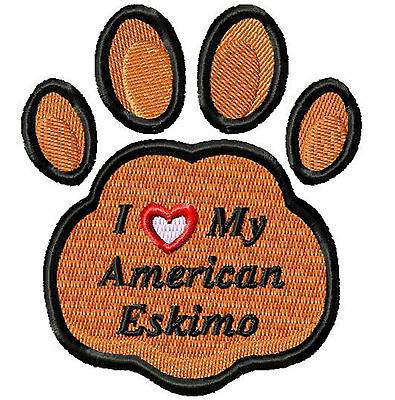 American Eskimo PAW Print Embroidery Patch