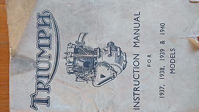 Triumph Manual Motorcycles Of The 1930S Collectors Rare Vintage