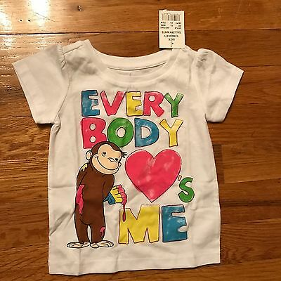 Curious George Girls T Shirt Size 12 Months