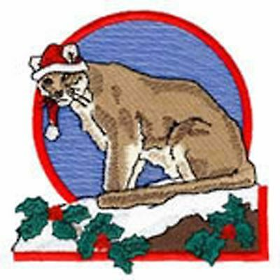 Christmas Wilderness Cougar Embroidery Patch
