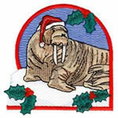 Christmas Wilderness Wallrus Embroidery Patch