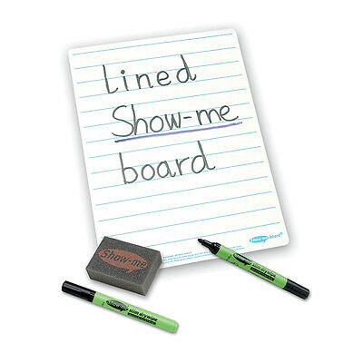 Show Me® Class Pack Drywipe Boards, Pens and Erasers Lined