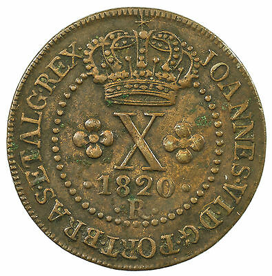Portugal, 10 Reis, Portuguesa, Low Mintage Of Just 6,773, Rare, 1820