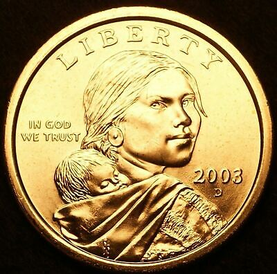 "2003 D Sacagawea Dollar US Mint Coin in ""Brilliant Uncirculated"" Condition"