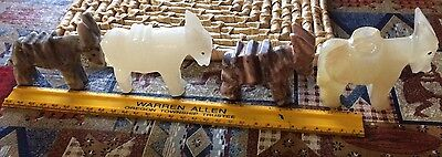Mexican Carved Stone Donkeys!