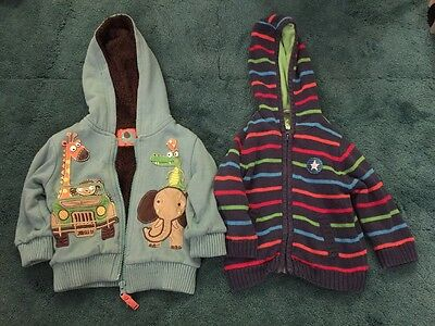 Baby 9-12 Month Hooded Tops x 2 (TU)