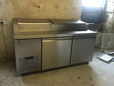 Salad Counter - stainless Steel- Commercial Fridge