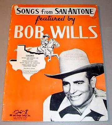 SONGS FROM SAN ANTONE FEATURED BY BOB WILLS - Songbook Folio (1946)