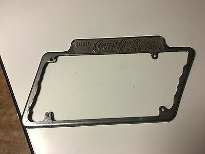 Very Rare 1930s Coca Cola Tennessee Shaped   license plate Holder / Frame