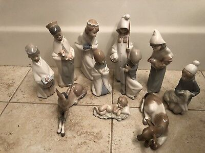 Lladro 4670-4680 Nativity 11 pieces Retired! Mint! Original Boxes! Great Gift!